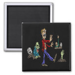 Zombies 2 Inch Square Magnet