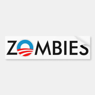 ZOMBIES 4 Obama Slime Bumper Stickers