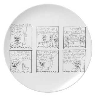 zombies ad dinner plates