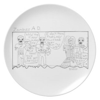 zombies AD Party Plate