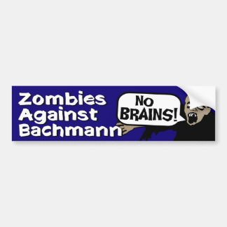 Zombies Against Bachmann Bumper Sticker