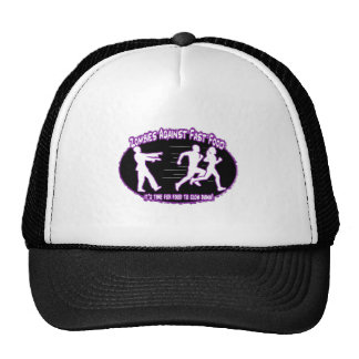 zombies against fast food light purple trucker hat