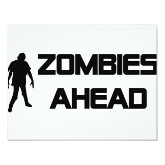 zombies ahead icon personalized announcements