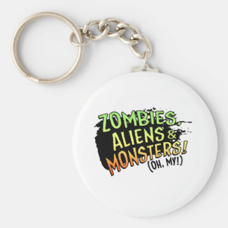 Zombies, Aliens & Monsters (oh my!) Basic Round Button Keychain