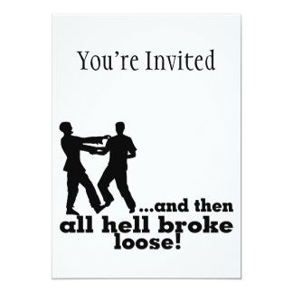 Zombies All Hell Broke Loose Card