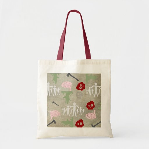 Zombies and Brains Tote Bags