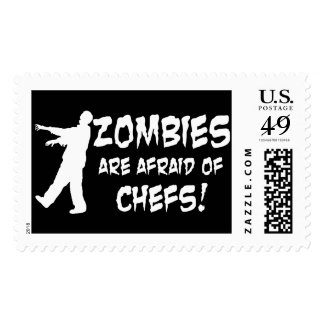 Zombies Are Afraid Of Chefs Postage