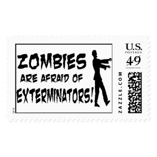 Zombies Are Afraid Of Exterminators Postage