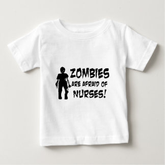 Zombies Are Afraid of Nurses Baby T-Shirt