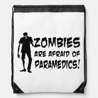 Zombies Are Afraid Of Paramedics String Backpack Drawstring Backpacks
