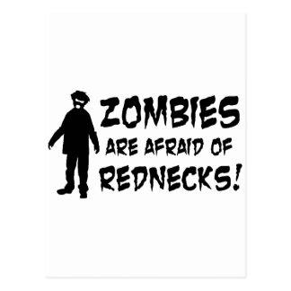 Zombies Are Afraid of Rednecks Postcard