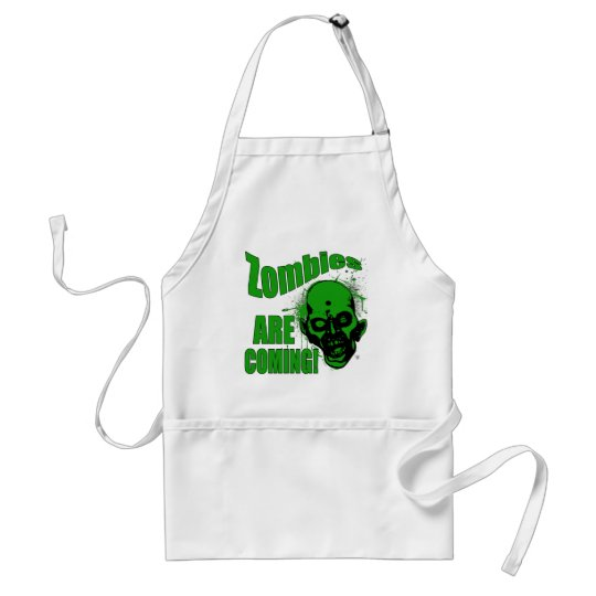 Zombies are Coming1 Adult Apron