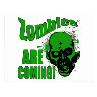 Zombies are Coming1 Postcard