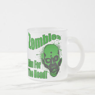 Zombies are Coming2 Frosted Glass Coffee Mug