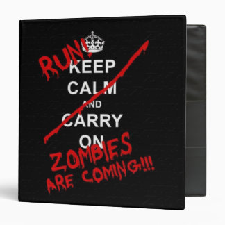 Zombies are coming avery binder