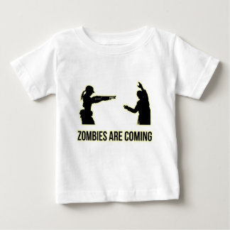 Zombies Are Coming Baby T-Shirt