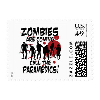 Zombies Are Coming Call The Paramedics Postage