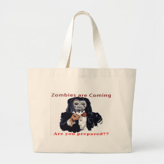 Zombies Are Coming Canvas Bags