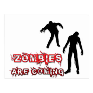 Zombies Are Coming Postcard