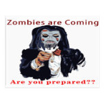 Zombies Are Coming Postcards