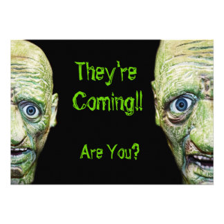 Zombies Are Coming Scary Halloween Double Sided Personalized Invitation