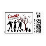 Zombies Are Coming Stamp