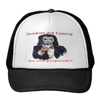 Zombies Are Coming Trucker Hat