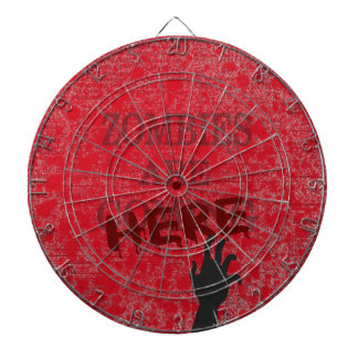 Zombies Are Here Blood Splattered Newspaper Dartboards