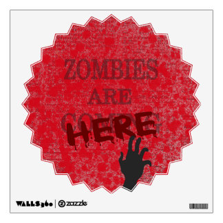 Zombies Are Here Blood Splattered Newspaper Wall Sticker