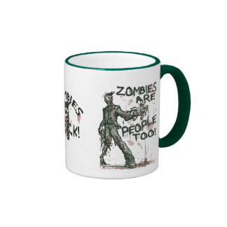 Zombies are People too Gear Ringer Coffee Mug