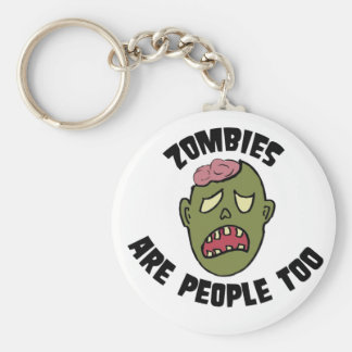 zombies are people too key chain
