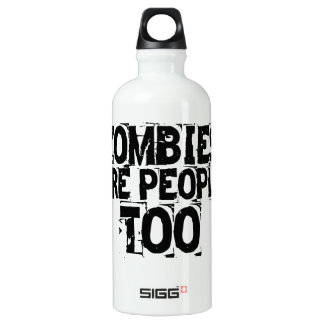 Zombies are people too water bottle