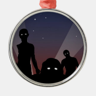 Zombies at midnight ornament