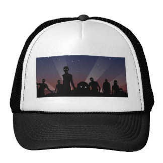 Zombies at midnight trucker hat