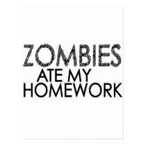 Zombies at my Homework Postcard