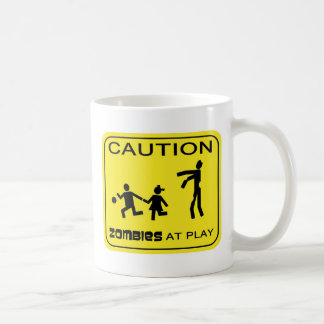 Zombies At Play Caution Mugs