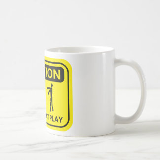 Zombies At Play Caution Sign YELLOW Design Coffee Mugs