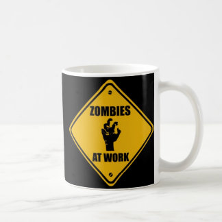 Zombies At Work Sign - Mug