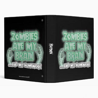 Zombies Ate My Brain 3 Ring Binders