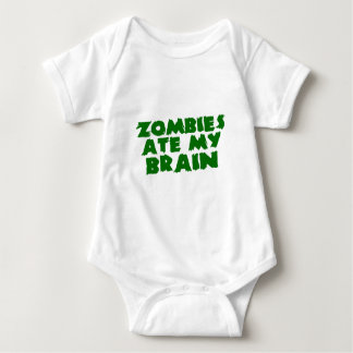 Zombies Ate My Brain Baby Bodysuit