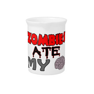 Zombies Ate My Brain Beverage Pitcher