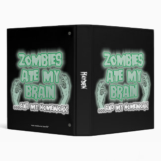 Zombies Ate My Brain Binder