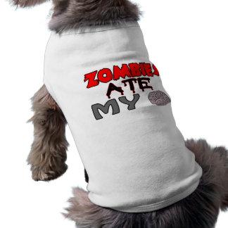 Zombies Ate My Brain Dog Tee Shirt