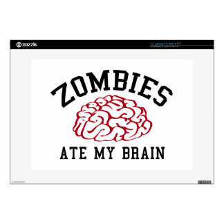 "Zombies Ate My Brain Skins For 15"" Laptops"