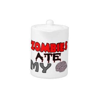 Zombies Ate My Brain Teapot