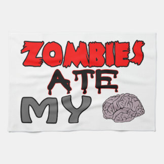 Zombies Ate My Brain Towels