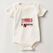 Zombies Ate My Homework Baby Bodysuit