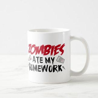 Zombies Ate My Homework Coffee Mug