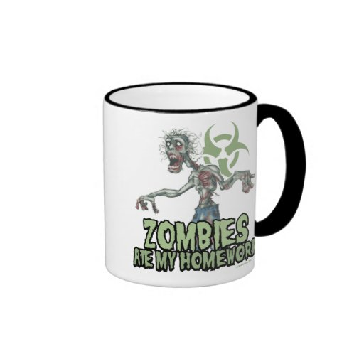 Zombies Ate My Homework Coffee Mugs