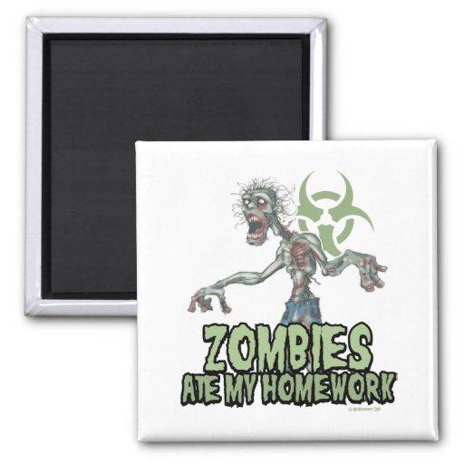 Zombies Ate My Homework Fridge Magnet